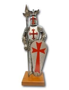 Mini armadura Templaria capa blanca/negra