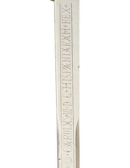 Espada Carlos III (Plata Grabado Cazol)