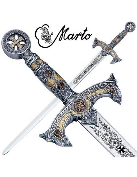 Espada Templarios (Plata D.Oro)