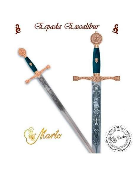 Espada Excálibur (Oro Grab.Prof.)