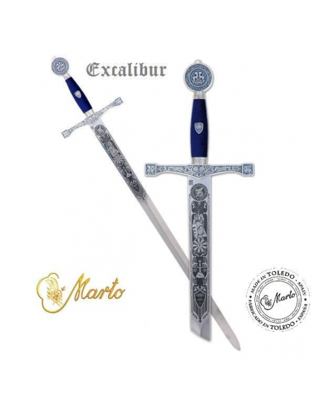 Excalibur Sword (Silver Deep Etching)
