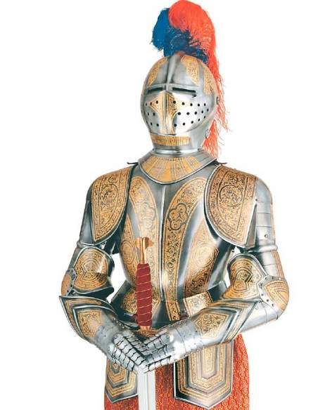 Medieval Armor Gold Decorated