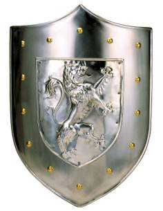Shield Rampant Lion