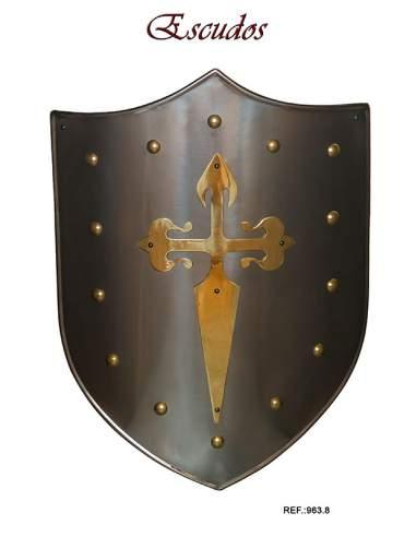 Shield Brass Santiaguist Cross