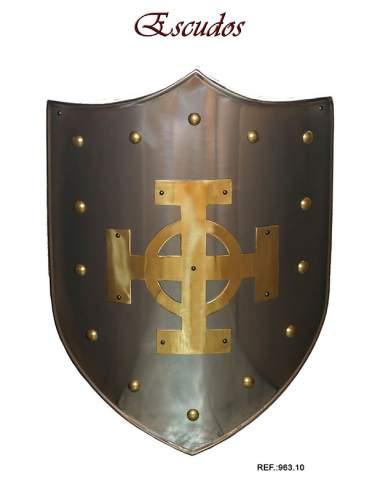 Escudo Medieval Cruz Celta Latón