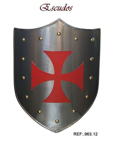 Medieval Shield Red Templar Cross
