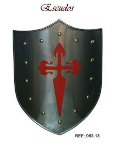 Shield Red St. James Cross