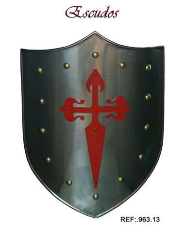 Shield Red St. James Cross
