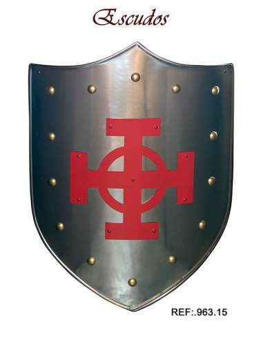 Medieval Shield Red Celtic Cross
