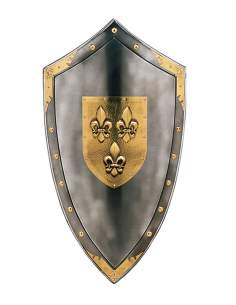 Escudo Metal Flor De Lys